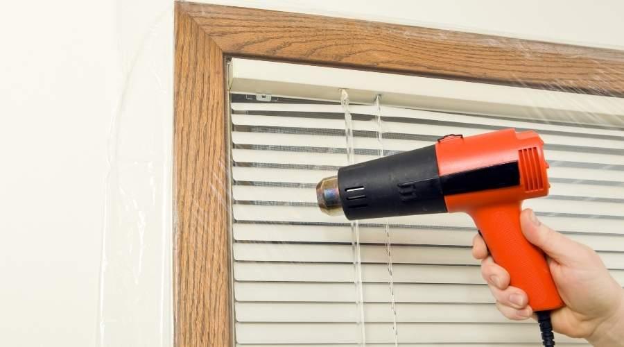 using heat gun for Heat Shrink Plastic Tubing
